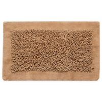 "Chenille Long Noodle 36"" x 24"" Bath Mat in Beige"
