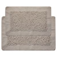 """Chenille Long Noodle 2-Piece 24"""" x 17"""" and 34"""" x 21"""" Bath Mat Set in White"""