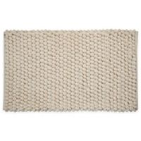 "Bubbles Microfiber 34"" x 21"" Bath Mat in Ivory"