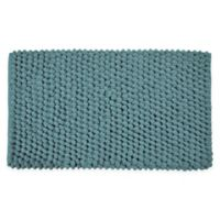"Bubbles Microfiber 34"" x 21"" Bath Mat in Blue"