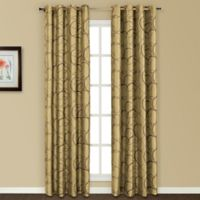 United Curtain Co. Sinclair Embroidered 63-Inch Grommet Top Window Curtain Panel in Apple