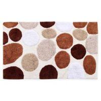 "Pebble Stone 50"" x 30"" Bath Mat in Brown"