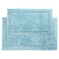 "Regency 2-Piece 24"" x 17"" and 34"" x 21"" Bath Mat Set in Blue"