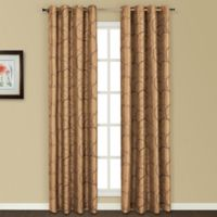United Curtain Co. Sinclair Embroidered 84-Inch Grommet Top Window Curtain Panel in Taupe