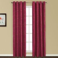 United Curtain Co. Sinclair Embroidered 63-Inch Grommet Top Window Curtain Panel in Burgundy