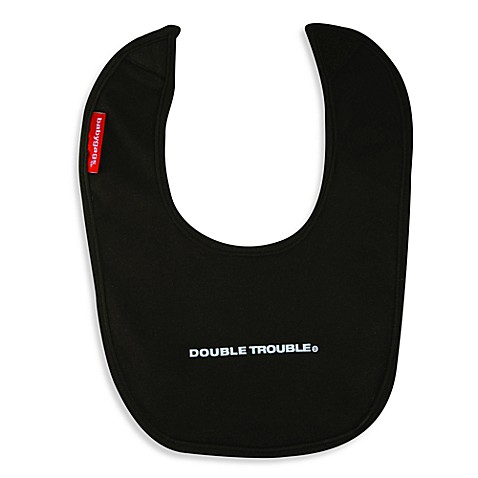 Silly Souls® Double Trouble Bib in Black