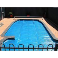Pool Central 18' Round Floating Solar Blanket Swimming Pool Cover in Blue
