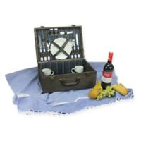 Northlight 15-Piece Picnic Basket Set in Chocolate
