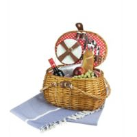 Northlight 14-Piece Picnic Basket Set in Honey