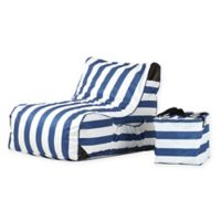 OVE® Paola Akiko Patio Lounge Chair in Blue/White