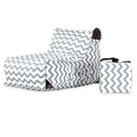 OVE® Paola Chevron Patio Lounge Chair in Grey/White