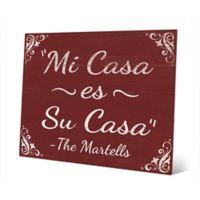 "Astra Art ""Casa - Red"" 11-Inch x 14-Inch Metal Wall Art"