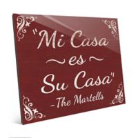 "Astra Art ""Casa - Red"" 11-Inch x 14-Inch Acrylic Wall Art"