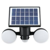 Link2Home 600 Lumen LED Solar Dual-Head Sensor Floodlight with Photocell Technology