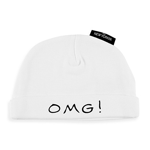 Silly Souls® OMG! I Just Got Born! Size 6-12 months Beanie in White