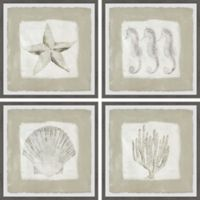 Marmont Hill Sea Fun 24-Inch Square Framed Quadriptych Wall Art