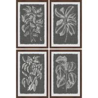 Marmont Hill Grayed Leaves 48-Inch x 72-Inch Framed Quadriptych Wall Art