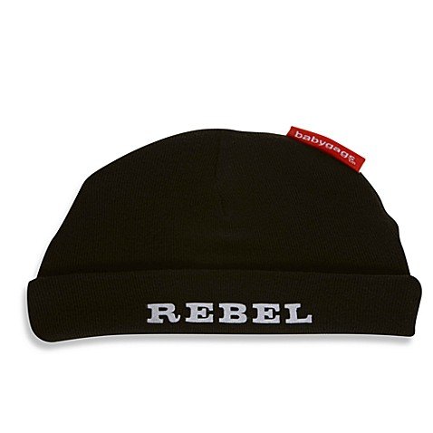 Silly Souls® Size Newborn - 6 Months Rebel Beanie in Black