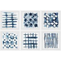 Marmont Hill Indigo Study 36-Inch x 24-Inch Framed Hexaptych Wall Art (Set of 6)