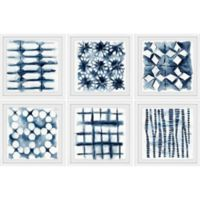 Marmont Hill Indigo Study 72-Inch x 48-Inch Framed Hexaptych Wall Art (Set of 6)