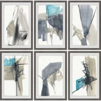 Marmont Hill Black Strokes 72-Inch Square Framed Hexaptych Wall Art