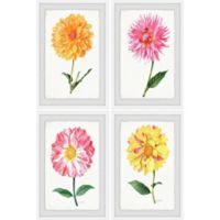 Marmont Hill Flower Power 48-Inch x 72-Inch Framed Quadriptych Wall Art