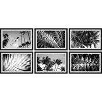 Marmont Hill Summer Palms 72-Inch x 32-Inch Framed Hexaptych Wall Art