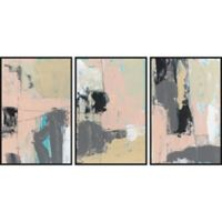 Marmont Hill Pink-A-Boo 72-Inch x 36-Inch Framed Triptych Wall Art (Set of 3)