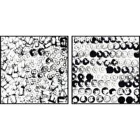 Marmont Hill Black Circle Smudge II 36-Inch x 18-Inch Framed Diptych Wall Art (Set of 2)