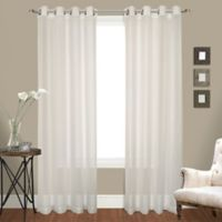 United Curtain Co. Venetian 84-Inch Crushed Voile Grommet Top Window Curtain Panel Pair in Natural
