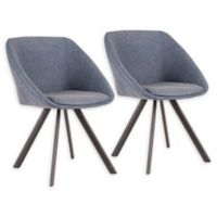 Lumisource® Faux Leather Upholstered Matisse Dining Chairs in Blue (Set of 2)