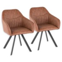 Lumisource® Faux Leather Upholstered Clubhouse Chairs in Brown (Set of 2)