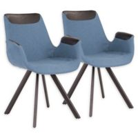 Lumisource® Metal Upholstered Industrial Chairs in Blue (Set of 2)