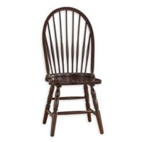 Carolina Cottage Solid Wood Construction Windsor Dining Chair in Espresso