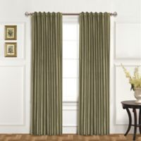 United Curtain Co. Dupioni Silk 84-Inch Rod Pocket Blackout Window Curtain Panel in Sage