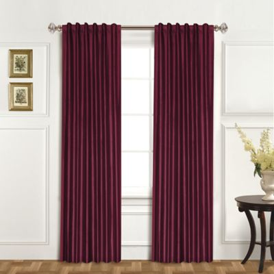 United Curtain Co Dupioni Silk 84 Inch Rod Pocket Blackout Window Panel In