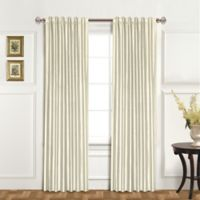 United Curtain Co. Dupioni Silk 84-Inch Rod Pocket Blackout Window Curtain Panel in Oyster