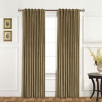 United Curtain Co. Dupioni Silk 95-Inch Rod Pocket Blackout Window Curtain Panel in Taupe