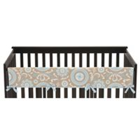 Sweet Jojo Designs Hayden Long Crib Rail Guard Cover in Spa Blue/White