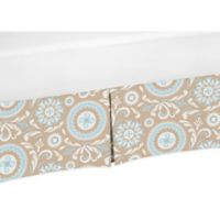Sweet Jojo Designs Hayden Medallion Print Crib Bed Skirt