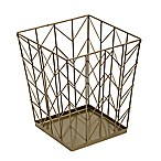 Honey-Can-Do® Coastal Decorative Chevron Trash Can in Bronze