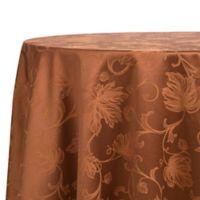 Autumn Vine 70-Inch Round Tablecloth in Bronze Damask