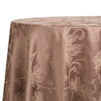 Autumn Vine 90-Inch Round Tablecloth in Mushroom Damask