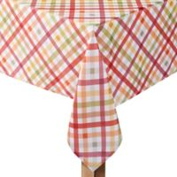 Autumn Gingham 52-Inch x 70-Inch Oblong Tablecloth
