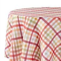 Autumn Gingham 90-Inch Round Tablecloth