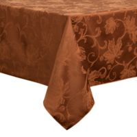 Autumn Vine 60-Inch x 84-Inch Oblong Tablecloth in Bronze Damask