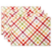 Autumn Gingham Placemats (Set of 4)
