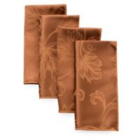 Autumn Vine Napkins in Bronze Damask (Set of 4)