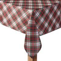 Holiday Tartan Plaid 60-Inch x 104-Inch Oblong Tablecloth