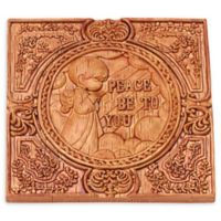 "Precious Moments® ""Peace Be To You"" 4-Inch Square Wall Plaque"